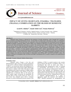 Journal of Science  Chemistry IMPACT OF GIVING SILDENAFIL