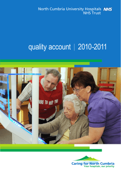 quality account    2010-2011 North Cumbria University Hospitals NHS Trust