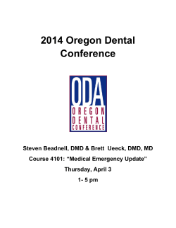 2014 Oregon Dental Conference