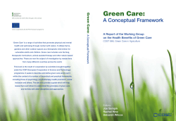 Green Care:  A Conceptual Framework