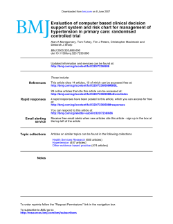 Evaluation of computer based clinical decision hypertension in primary care: randomised