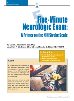 5 Five-Minute Neurologic Exam: A Primer on the NIH Stroke Scale