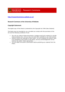 Research Commons at the University of Waikato Copyright Statement: