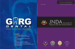 JNDA Journal of Nepal Dental Association Vol. 10, No. 2, July-December, 2009