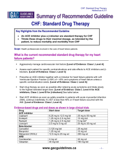 CHF: Standard Drug Therapy  failure patients?