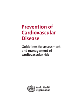 Prevention of Cardiovascular Disease Guidelines for assessment