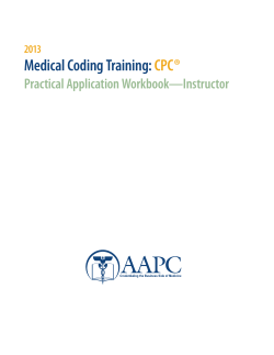 Medical Coding Training:  CPC® Practical Application Workbook—Instructor