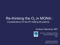 Re-thinking the O in MONA:: 2 Graham Werstiuk, RRT