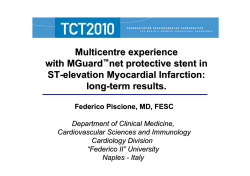 Multicentre experience with MGuard net protective stent in ST