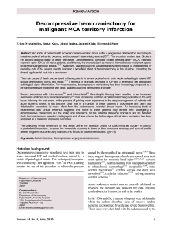 Decompressive hemicraniectomy for malignant MCA territory infarction  Review Article