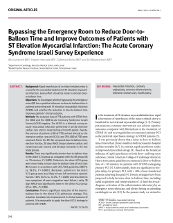 Bypassing the emergency room to reduce door-to-