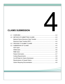 4  CLAIMS SUBMISSION