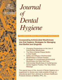 Journal Dental Hygiene of