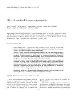 Effect of emotional stress on sperm quality
