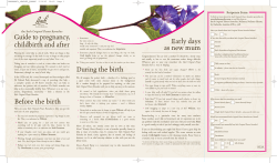 Guide to pregnancy, childbirth and after Bach Original Flower Remedies