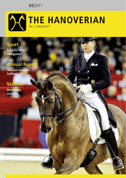 THE HANOVERIAN Sport Annual Report Stallion