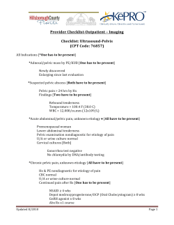 Provider Checklist-Outpatient – Imaging  Checklist: Ultrasound-Pelvis (CPT Code: 76857)