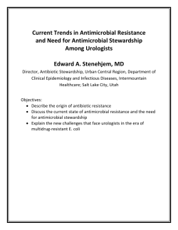 Current Trends in Antimicrobial Resistance and Need for Antimicrobial Stewardship Among Urologists
