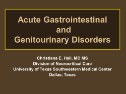 Acute Gastrointestinal and Genitourinary Disorders