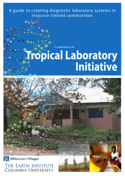 Tropical Laboratory Initiative A guide to creating diagnostic laboratory systems in resource-limited communities