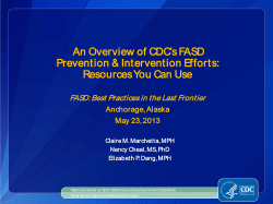 An Overview of CDC's FASD Resources You Can Use