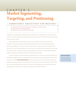 Market Segmenting, Targeting, and Positioning