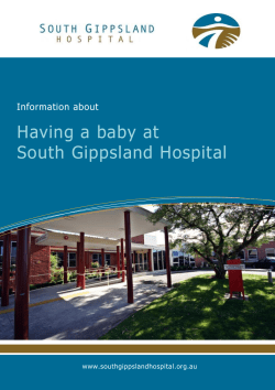 Having a baby at South Gippsland Hospital Information about