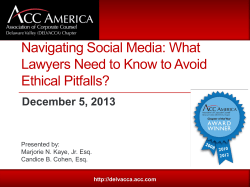 Navigating Social Media: What Lawyers Need to Know to Avoid Ethical Pitfalls?