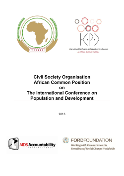 Civil Society Organisation African Common Position on