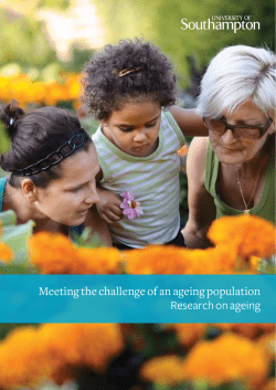 Meeting the challenge of an ageing population Research on ageing