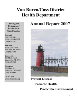 Van Buren/Cass District Health Department Annual Report 2007