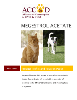 MEGESTROL ACETATE Product Profile and Position Paper