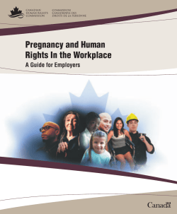 Pregnancy and Human Rights In the Workplace