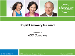 Hospital Recovery Insurance ABC Company presented to 1