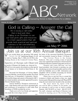 ABC Network Answer the Call God is Calling