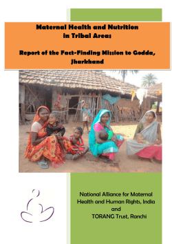 Maternal Health and Nutrition in Tribal Areas