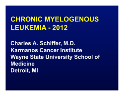 CHRONIC MYELOGENOUS LEUKEMIA - 2012