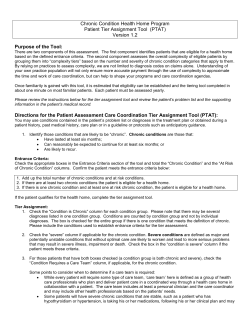 Chronic Condition Health Home Program Patient Tier Assignment Tool  (PTAT)