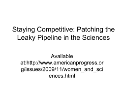Staying Competitive: Patching the Leaky Pipeline in the Sciences Available at:
