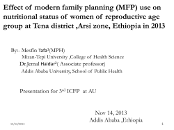 Effect of  modern family planning (MFP) use on