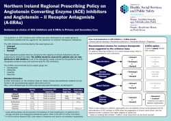 Northern Ireland Regional Prescribing Policy on Angiotensin Converting Enzyme (ACE) Inhibitors