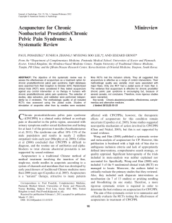 Minireview Acupuncture for Chronic Nonbacterial Prostatitis/Chronic Pelvic Pain Syndrome: A