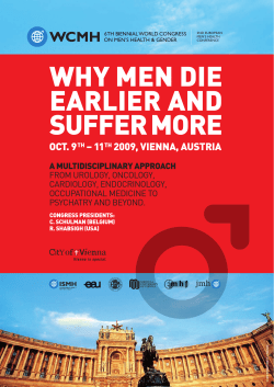 why men dIe earlIer and suffer more oCt. 9