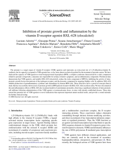 Inhibition of prostate growth and inflammation by the