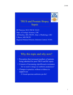 TRUS and Prostate Biopsy Sepsis