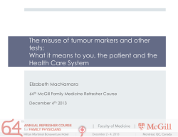 The misuse of tumour markers and other tests: Health Care System