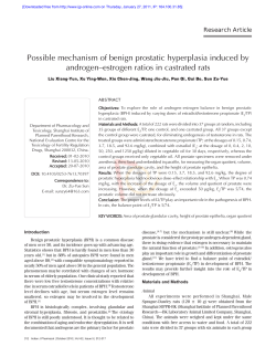 Possible mechanism of benign prostatic hyperplasia induced by