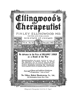 Ellingwood's Therapeutist, Vol. 8, No. 12   Page 1