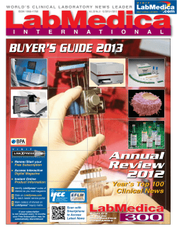 BUYER'S GUIDE 2013 Annual Review 2012