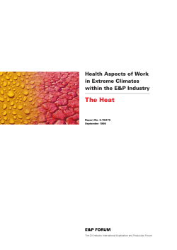 The Heat Health Aspects of Work in Extreme Climates within the E&P Industry